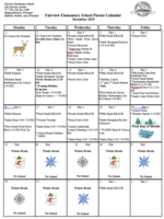 December Family Calendar of Events