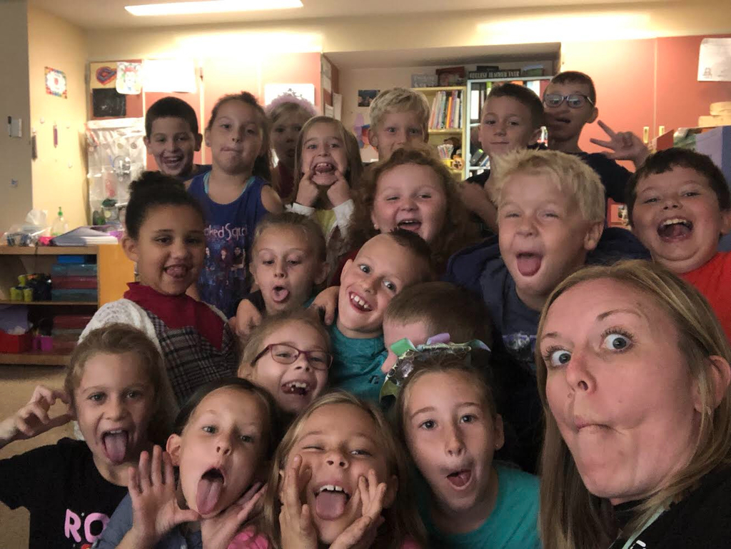 Silly Selfie with Second Grade