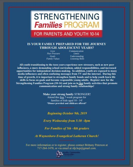 strengthening families flyer